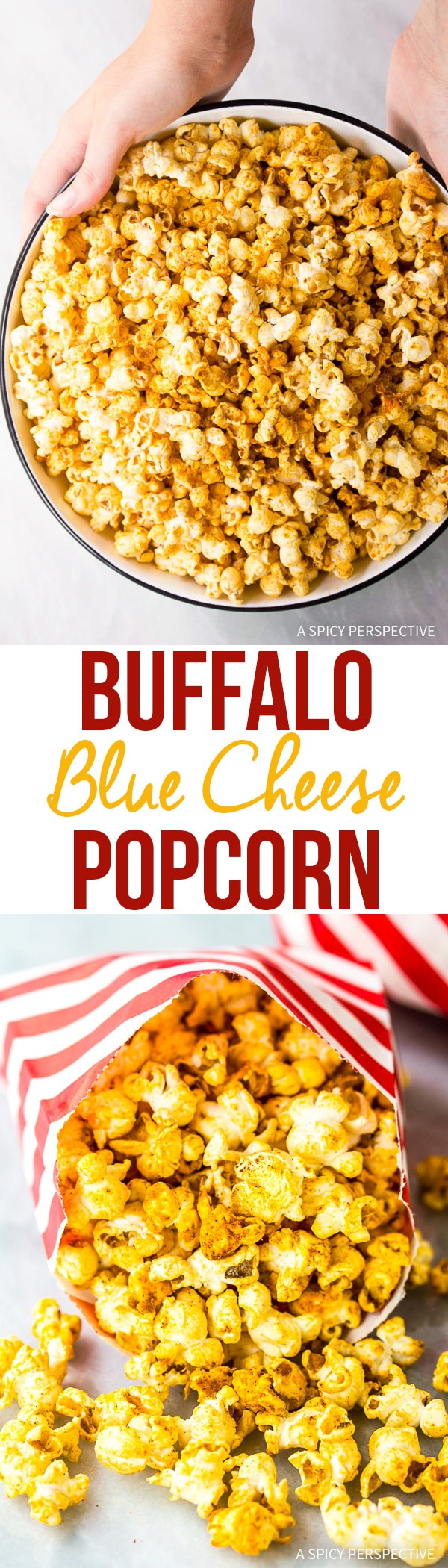 Zesty Buffalo Blue Cheese Popcorn Recipe