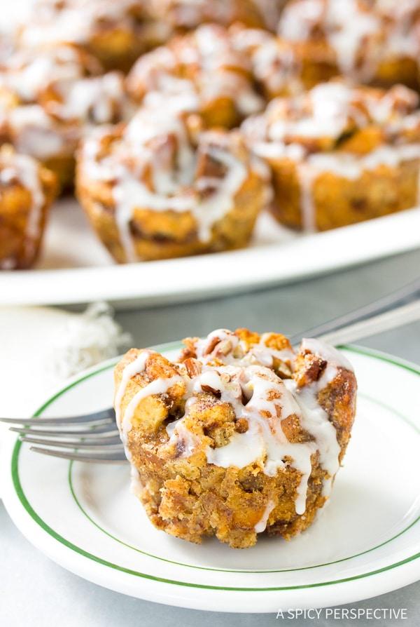 Perfect Cinnamon Roll Bread Pudding Muffins Recipe