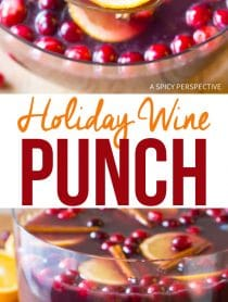 Large-Batch Holiday Wine Punch Cocktails