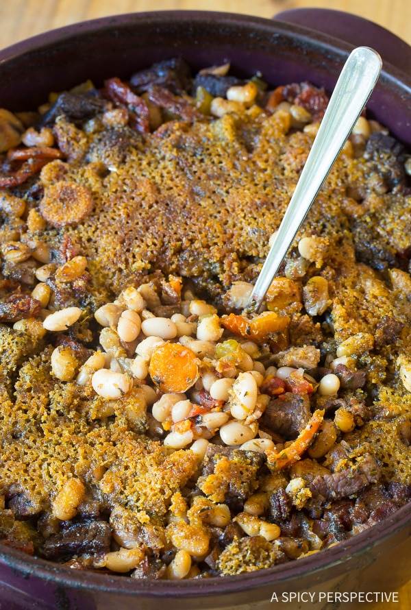 Luxurious Tuscan-Style Beef Cassoulet Recipe