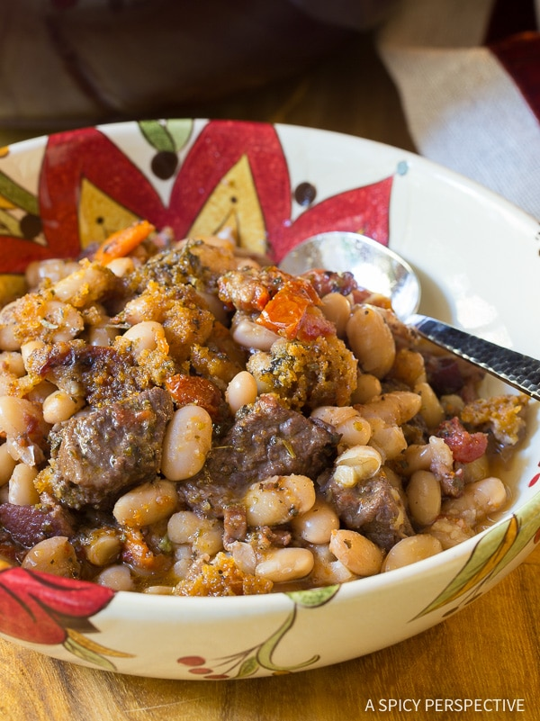 Robust Tuscan-Style Beef Cassoulet Recipe