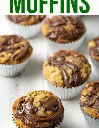 Tender Zucchini Nutella Swirl Muffins Recipe