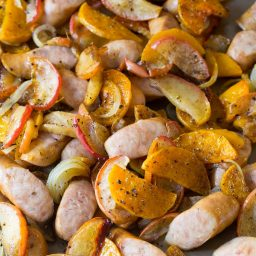 Chicken Sausage Apple Squash Sheet Pan Dinner Recipe
