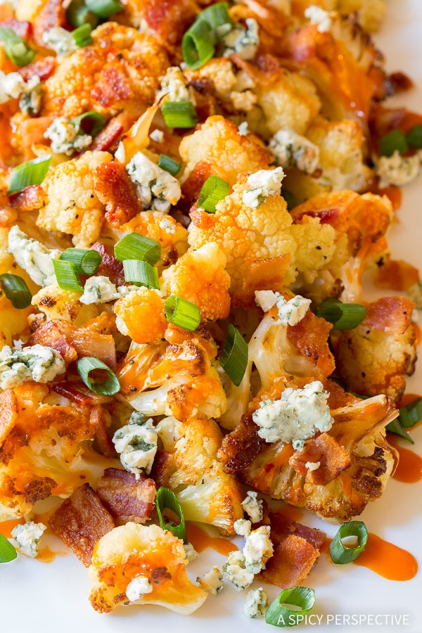Best Buffalo Bacon Roasted Cauliflower Recipe