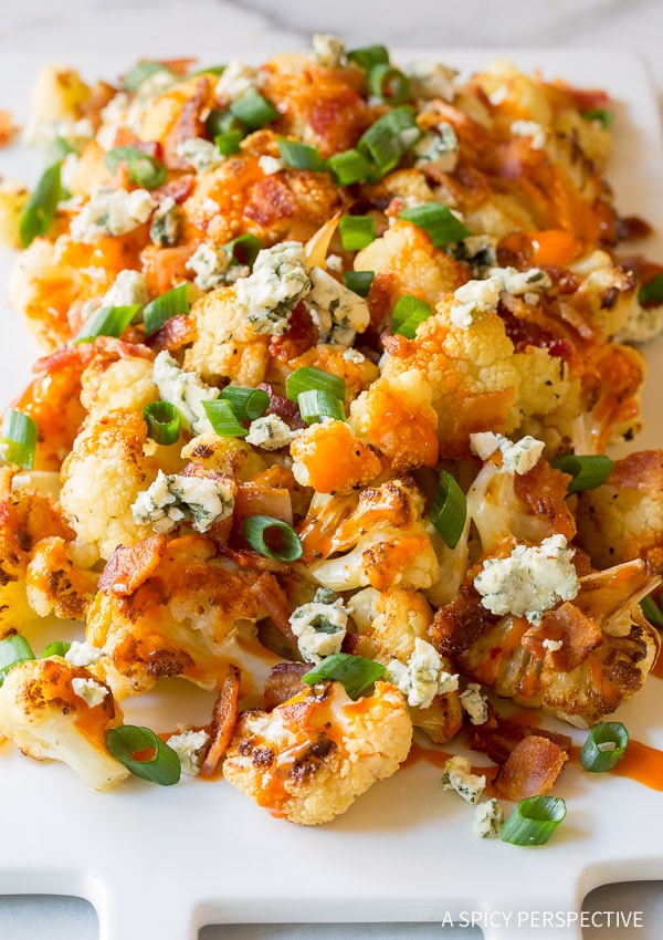 Buffalo Bacon Roasted Cauliflower Recipe