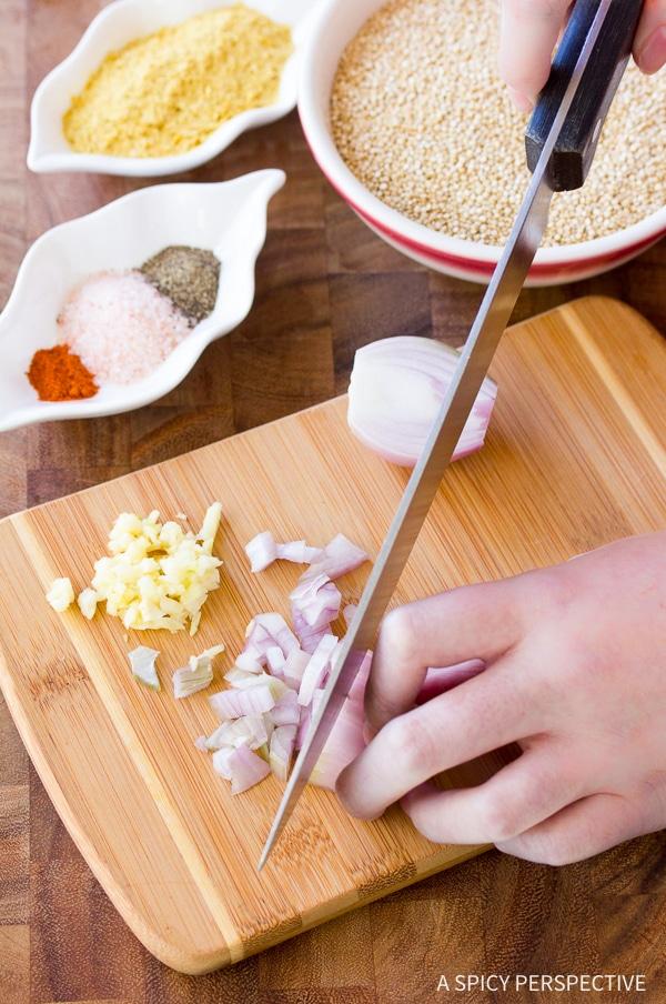 Making Cheesy Vegan Quinoa Grits Recipe