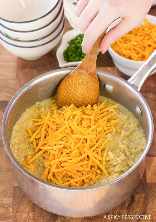 How To: Cheesy Vegan Quinoa Grits Recipe