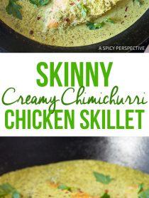 Skinny Creamy Chimichurri Chicken Skillet Recipe