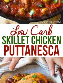 Zesty Low Carb Skillet Chicken Puttanesca Recipe
