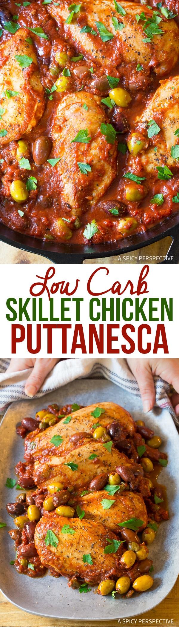 Zesty Low Carb Skillet Chicken Puttanesca Recipe