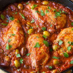 Low Carb Skillet Chicken Puttanesca Recipe