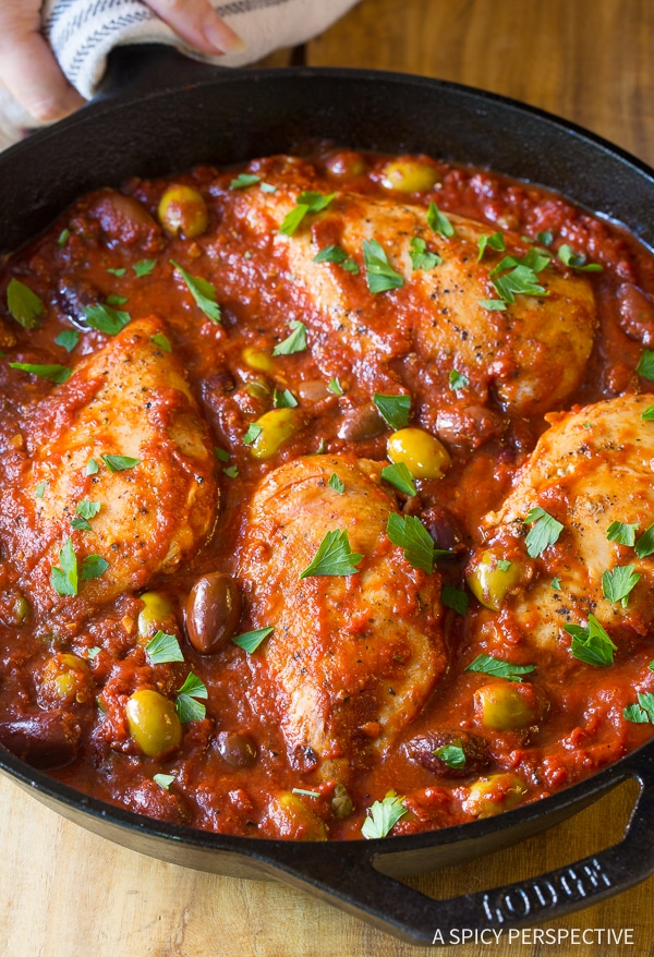 Skillet Chicken Puttanesca A Spicy Perspective