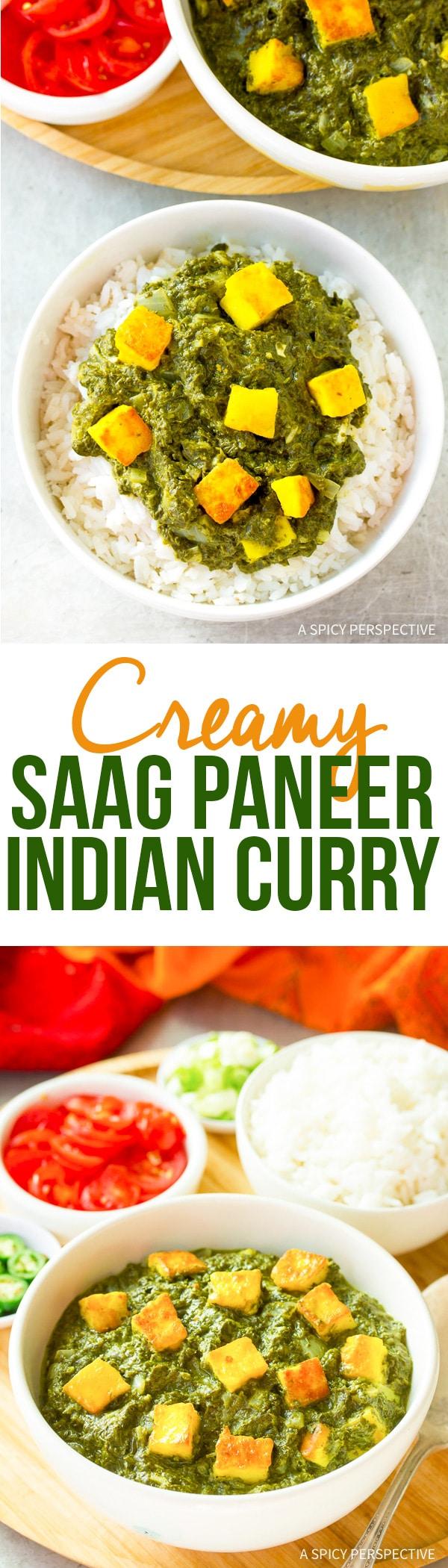 Silky Creamy Saag Paneer Recipe