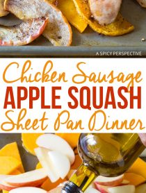 Rustic Chicken Sausage Apple Squash Sheet Pan Dinner Recipe