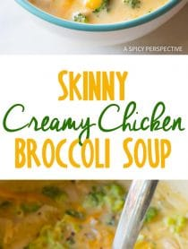 Perfect SKINNY Creamy Chicken Broccoli Soup Recipe