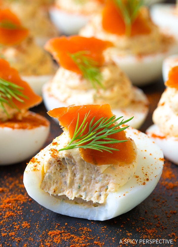 Creamy Low Carb Smoked Salmon Dip Deviled Eggs Recipe