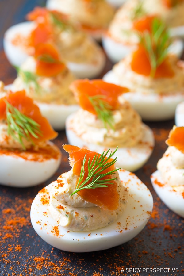 Heavenly Low Carb Smoked Salmon Dip Deviled Eggs Recipe
