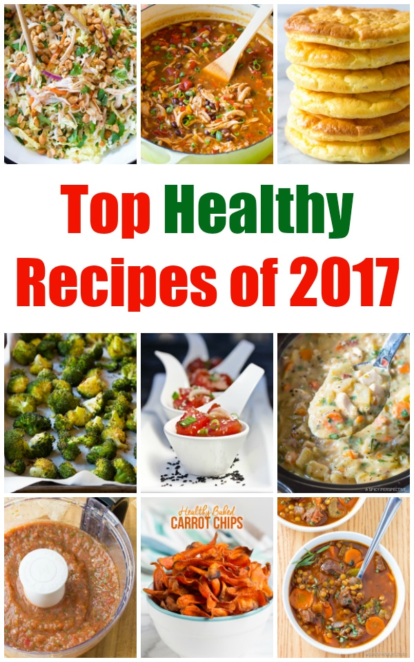 Top Healthy Recipes of 2017 on ASpicyPerspective.com