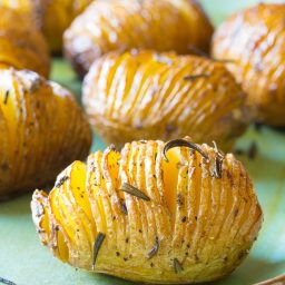 Crispy Hasselback Potatoes with Rosemary and Garlic Recipe