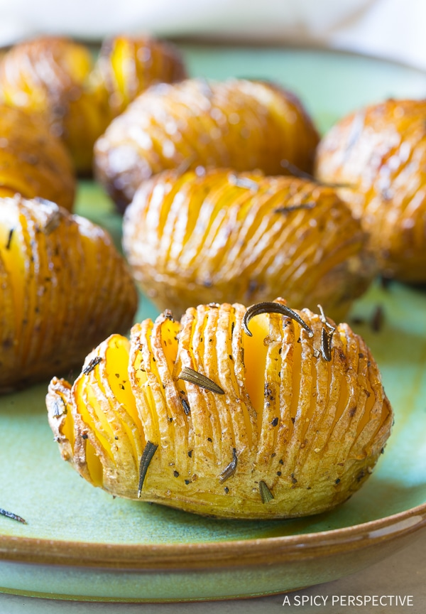 Crispy Hasselback Potatoes With Rosemary And Garlic Recipe Video