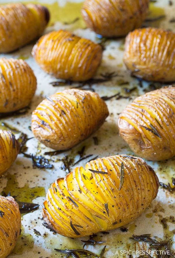 Heavenly Crispy Hasselback Potatoes with Rosemary and Garlic