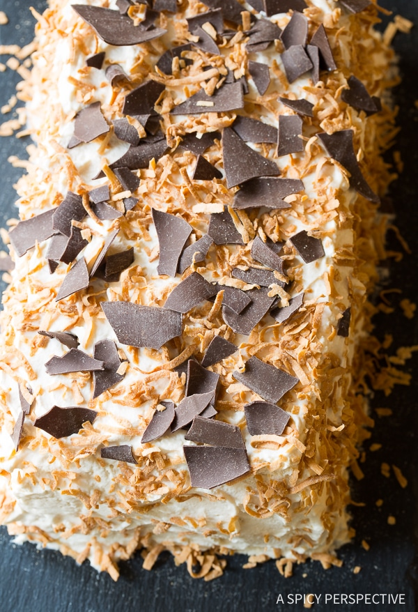 Easy Kahlua Coconut Icebox Cake Recipe for Valentines Day!