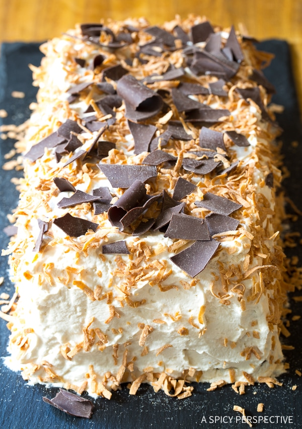 Heavenly Kahlua Coconut Icebox Cake Recipe for Valentines Day!