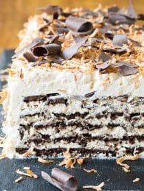 Kahlua Coconut Icebox Cake Recipe for Valentines Day!