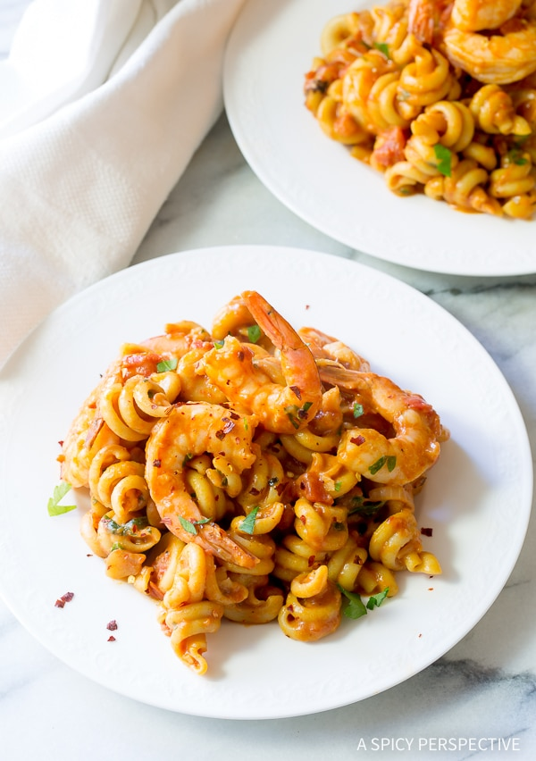 Bold Skillet Shrimp Fra Diavolo Pasta Recipe (with Instant Pot instructions!)