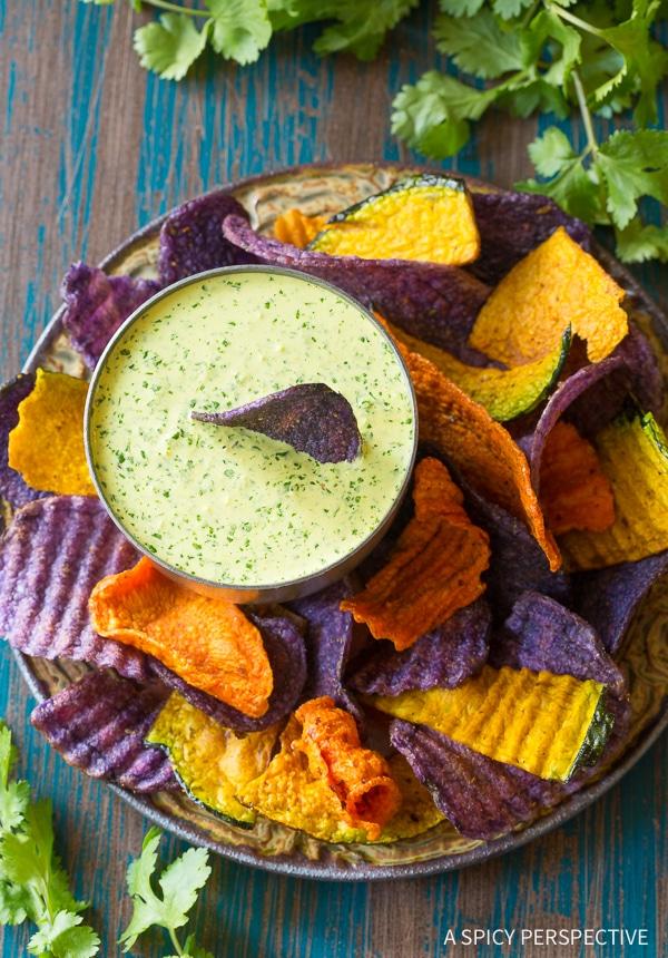 Fresh Aji Verde (Peruvian Green Sauce) Recipe