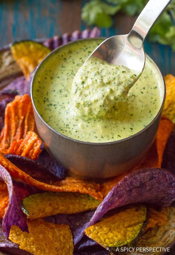 Zesty Aji Verde (Peruvian Green Sauce) Recipe