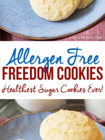 Allergen Free Freedom Cookies (Healthiest Sugar Cookies Ever!)
