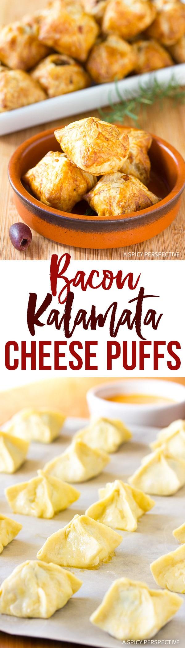 Amazing Bacon Kalamata Cheese Puffs Recipe