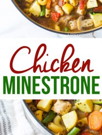 Easy Healthy Chicken Minestrone Soup Recipe
