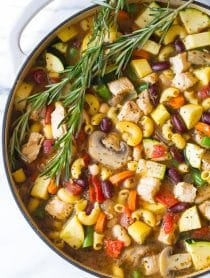 Healthy Chicken Minestrone Soup Recipe