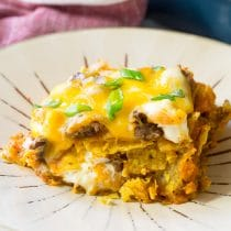 Cool Ranch Taco Lasagna Recipe - Mexican Lasagna with huge zesty flavor!