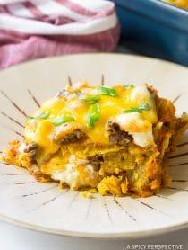 Cool Ranch Taco Lasagna Recipe - Mexican Lasagna with huge zesty flavor!