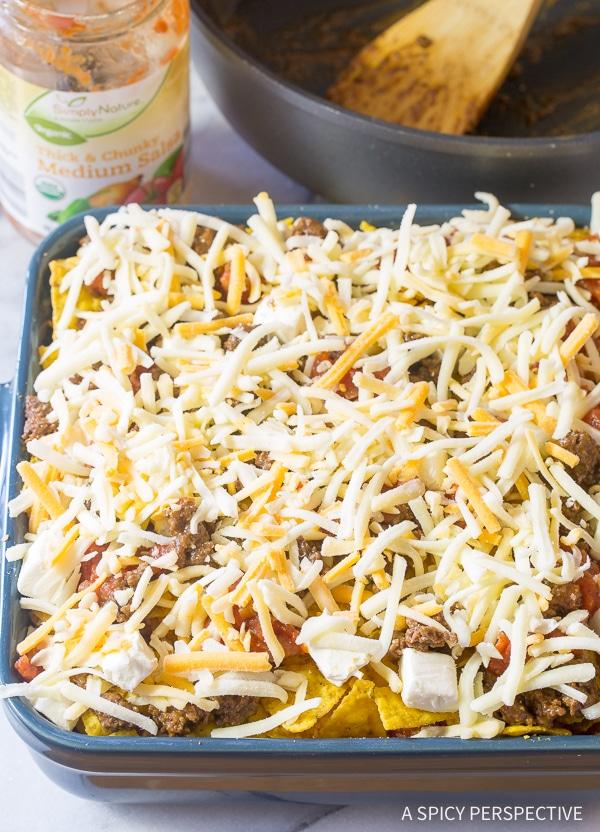 Amazing Cool Ranch Taco Lasagna Recipe - Mexican Lasagna with huge zesty flavor!