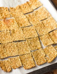 Low Carb Cauliflower Crackers Recipe - Gluten Free, Vegan & Paleo!