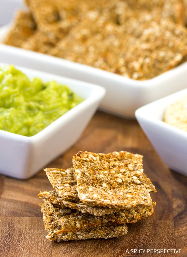 Crunchy Low Carb Cauliflower Crackers Recipe - Gluten Free, Vegan & Paleo!