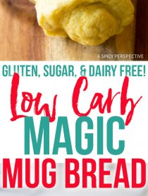 Low Carb Magic Mug Bread Recipe - Paleo, Ketogenic, Grain Free, Gluten Free, Sugar Free, Dairy Free!