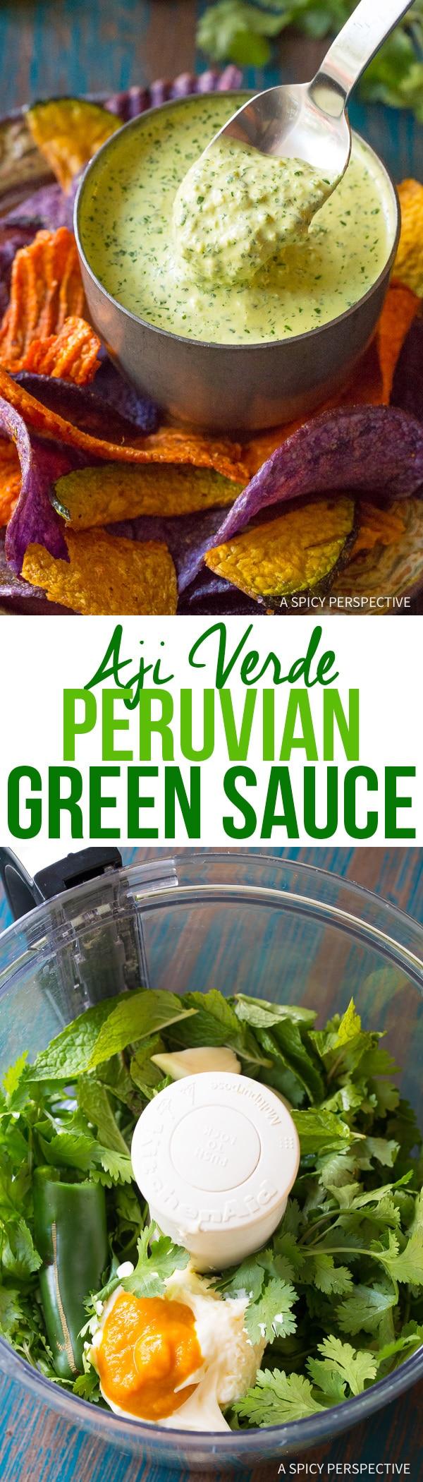 Fresh Zesty Aji Verde (Peruvian Green Sauce) Recipe