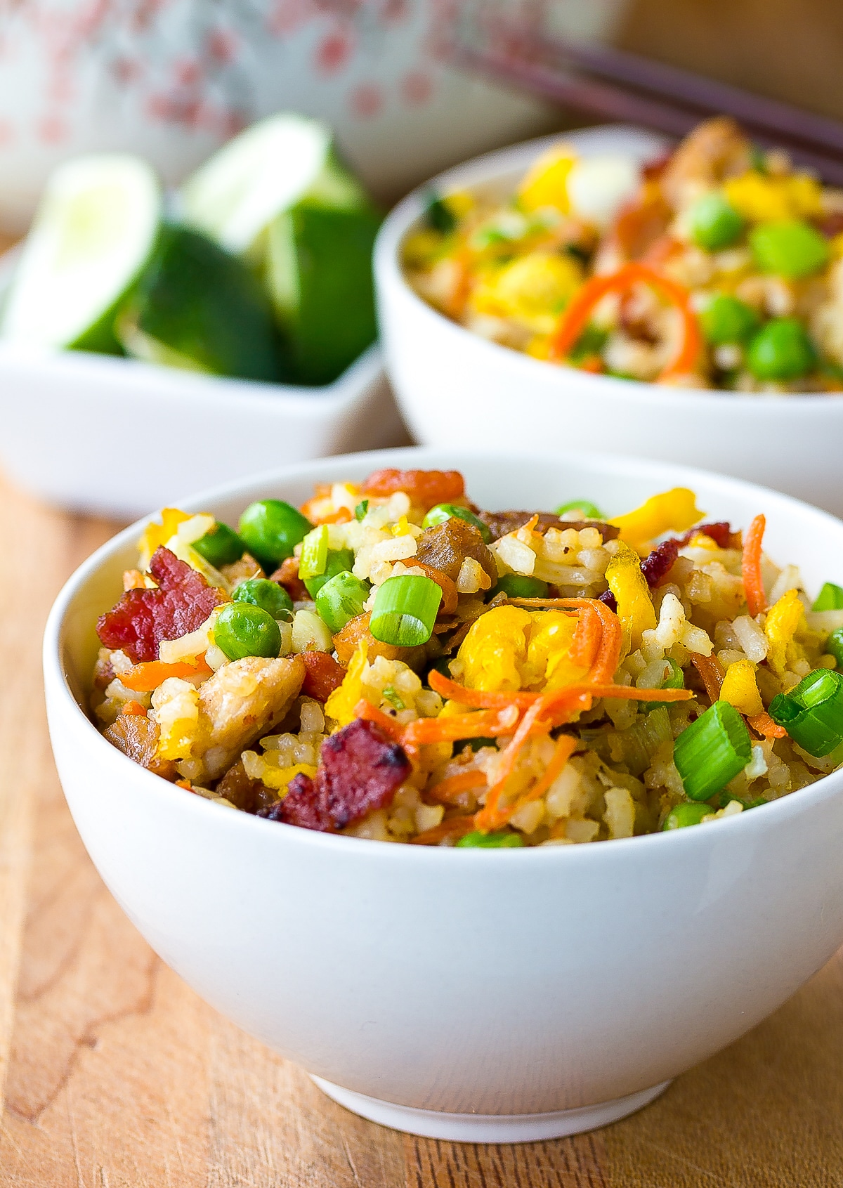 Best Pork Fried Rice Recipe #ASpicyPerspective #rice #fried #pork #bacon #asian #hawaiian