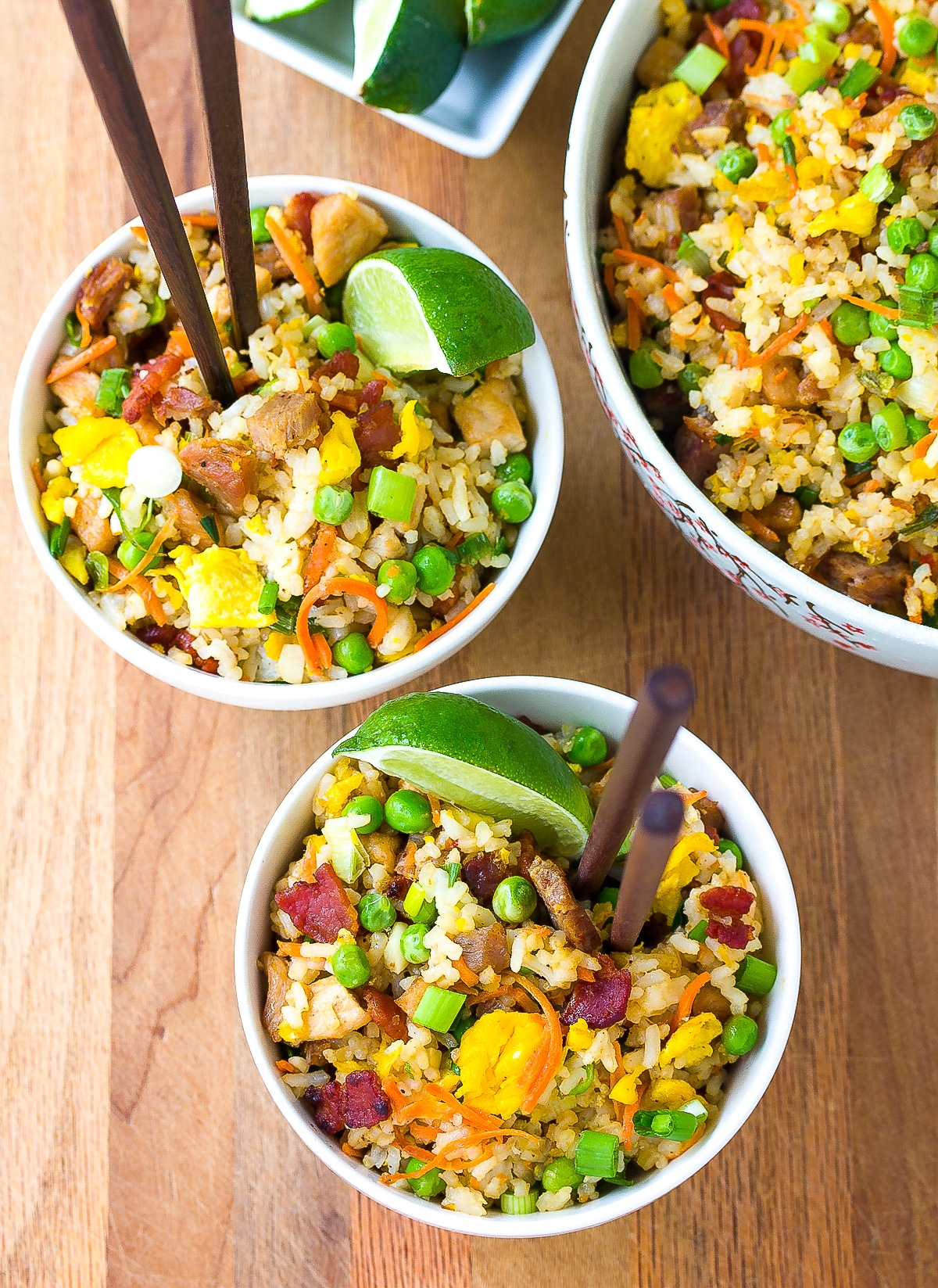 Chinese Pork Fried Rice Recipe #ASpicyPerspective #rice #fried #pork #bacon #asian #hawaiian