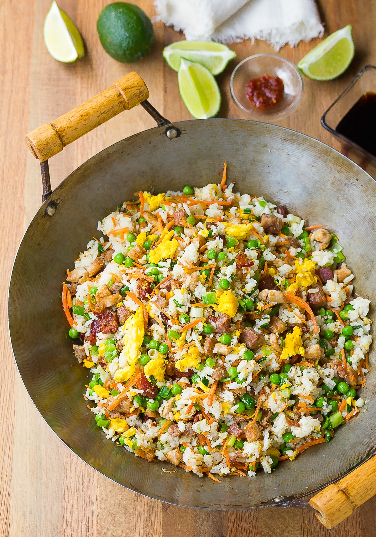 Hawaiian Pork Fried Rice Recipe #ASpicyPerspective #rice #fried #pork #bacon #asian #hawaiian
