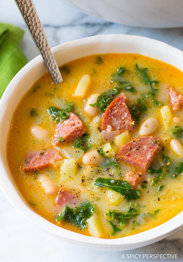 Rustic Portuguese Caldo Verde Soup Recipe