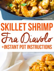 Spicy Skillet Shrimp Fra Diavolo Pasta Recipe (with Instant Pot instructions!)