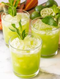 Cucumber Ginger Mint Agua Fresca Mocktail Recipe