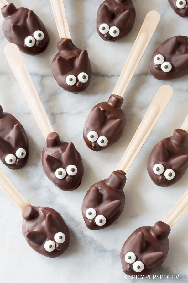 Easter Bunny Chocolate Peanut Butter Truffle Spoons Recipe