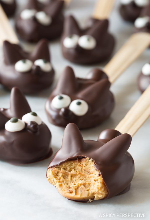 Melt-In-Your-Mouth Easter Bunny Chocolate Peanut Butter Truffle Spoons Recipe